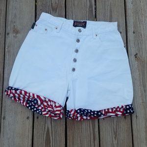 Vintage 90s Redone Paris Sport Club White Shorts